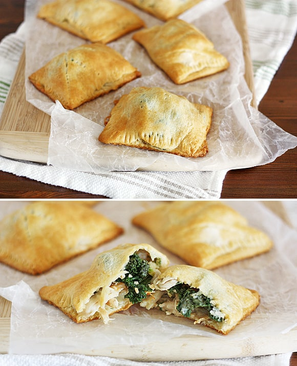 Chicken Kiev & kale pockets