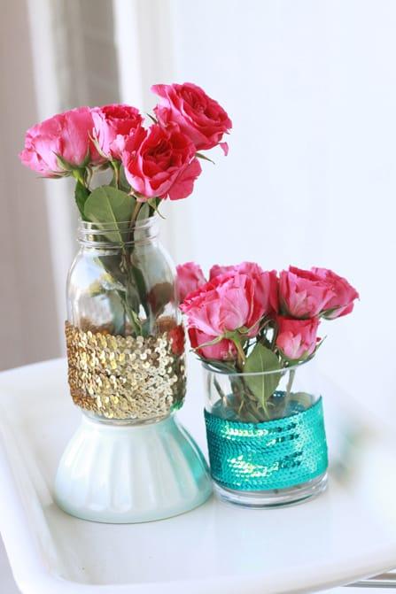 Sparkly Trim Vases