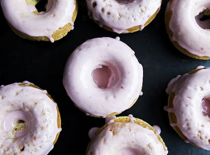 Cardamom Donuts with Blood Orange Glaze