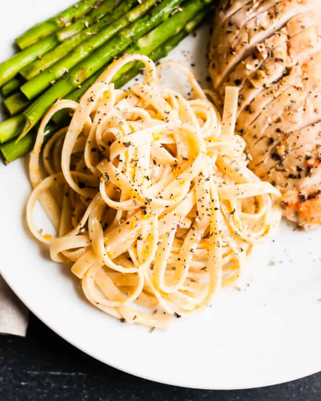 Orange Herb Fettuccine Alfredo | Hello Glow