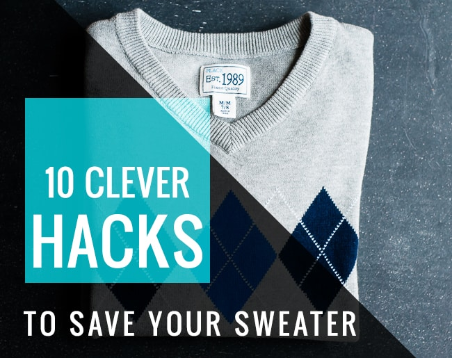 10 Clever Hacks to Save Your Sweater | Hello Glow