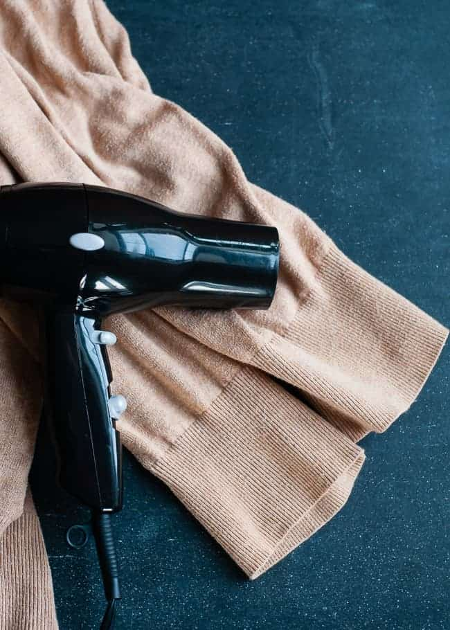 Hair dryer to shrink cuffs | Hello Glow