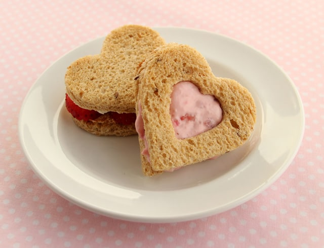 Strawberry Cream Cheese Sandwiches