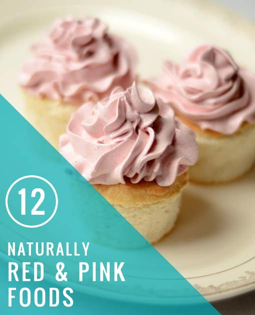 12 Naturally Red + Pink Recipes