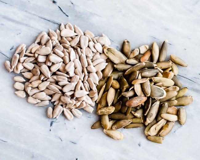 pepitas and sunflower seeds