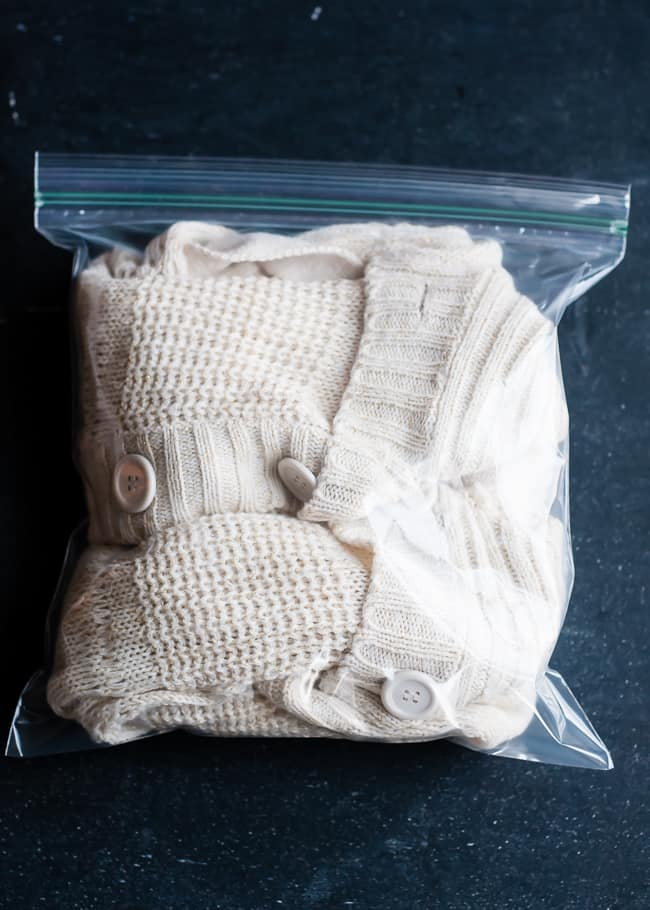 Sweater in freezer to prevent shedding | Henry Happened