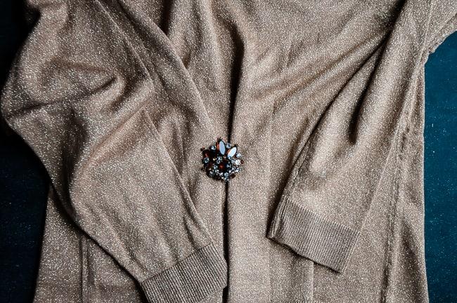 Tighten loose sweater brooch | Henry Happened