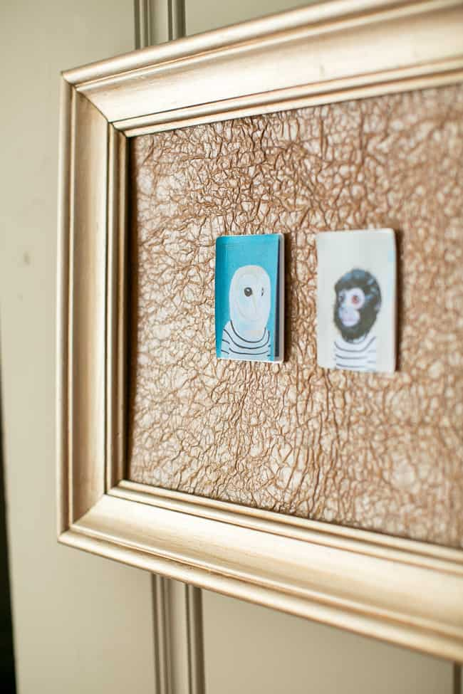 DIY paper bag memo board + frame matting | HelloGlow.co