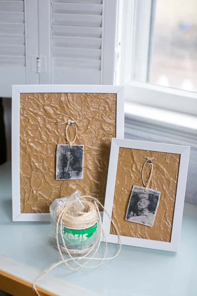 Paper Bag DIY Frame Matting | Hello Glow