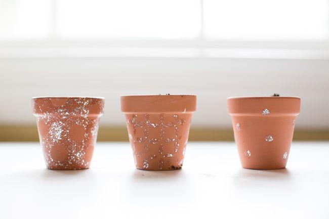 DIY Stenciled Planters | Hello Glow