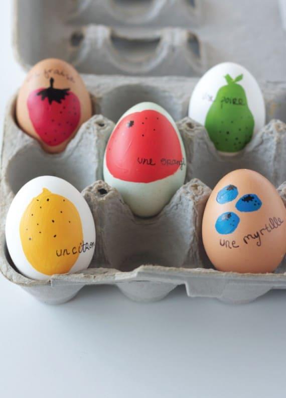 Farm fresh fruit eggs