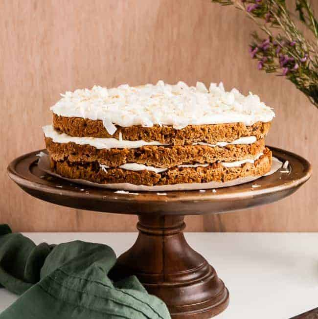 Lightened Up Carrot Cake (Gluten-Free)