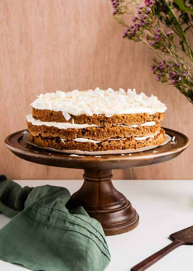 Vegan Gluten-Free Carrot Cake Recipe | HelloGlow.co