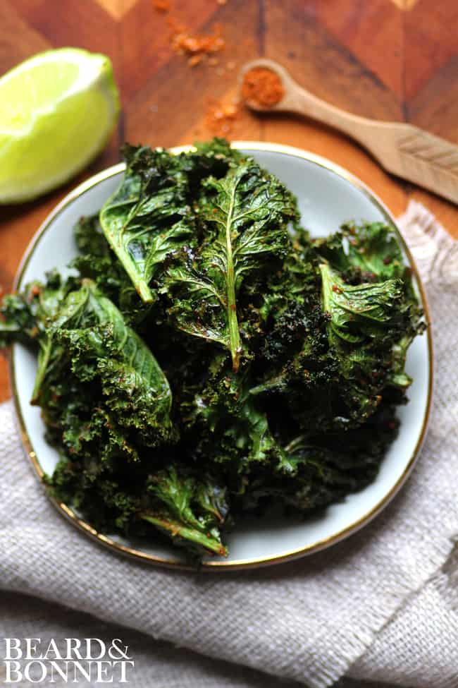 Taco-Spiced Kale Chips