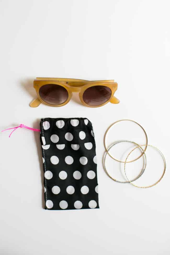 DIY No Sew Sunglasses Case | HelloGlow.co