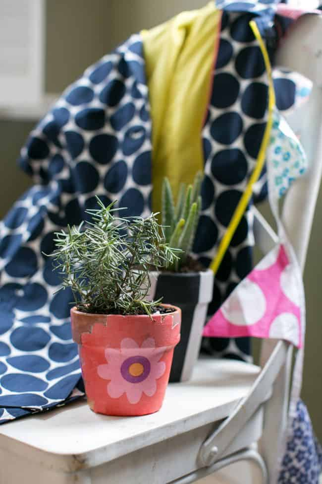 Fabric covered plant pots | HelloGlow.co