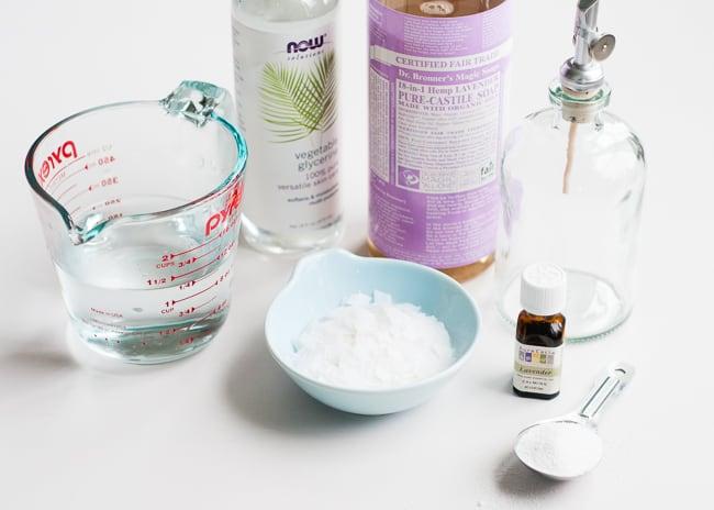DIY lavender dish soap ingredients