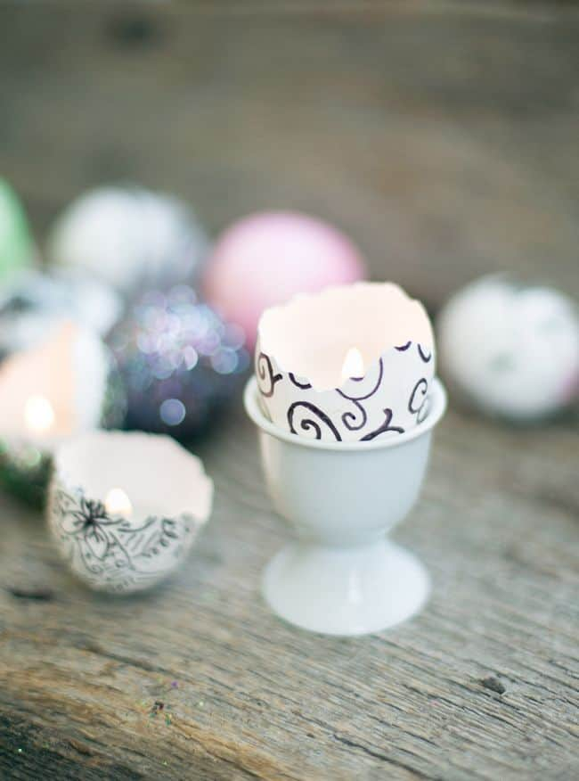 DIY Eggshell Candles | Henry Happened
