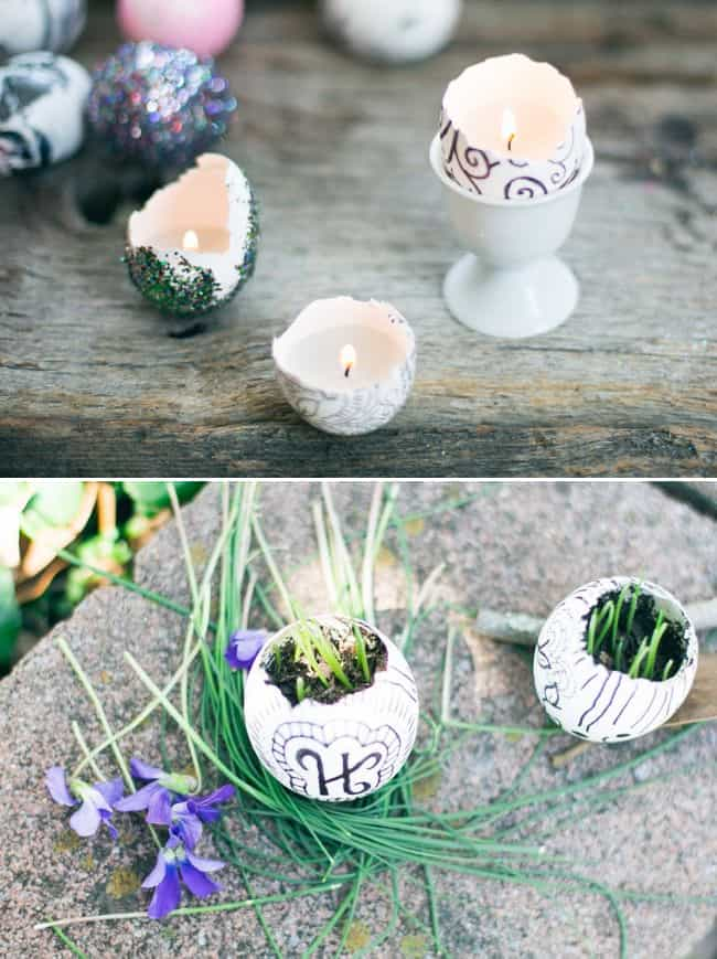 Eggshell garden + candles - Henry Happened