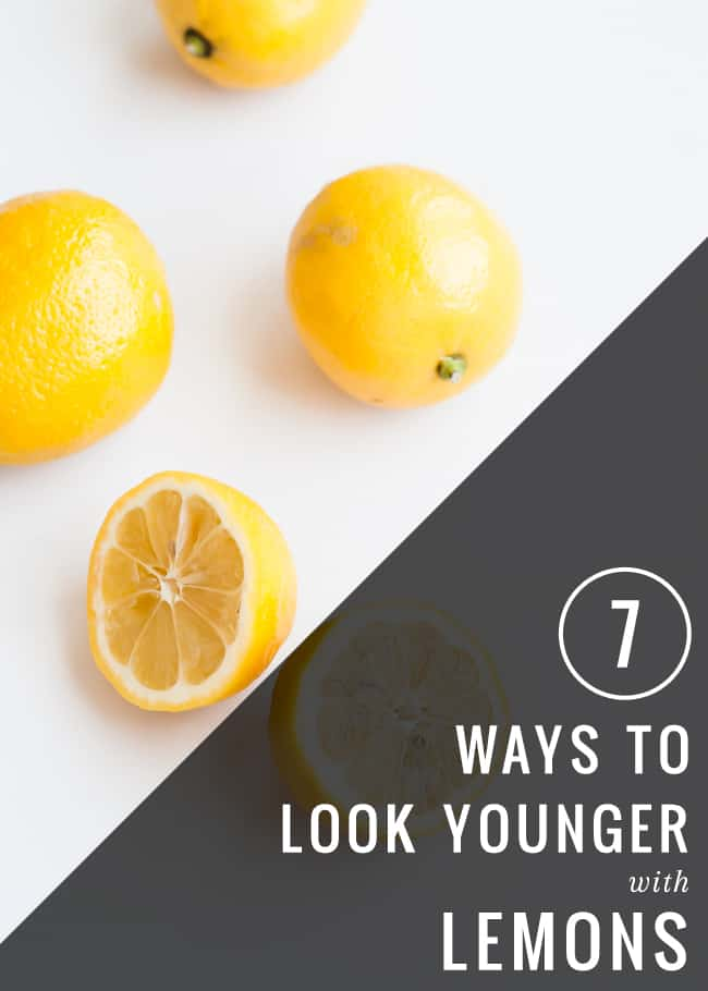 7 Ways To Look Younger With Lemons