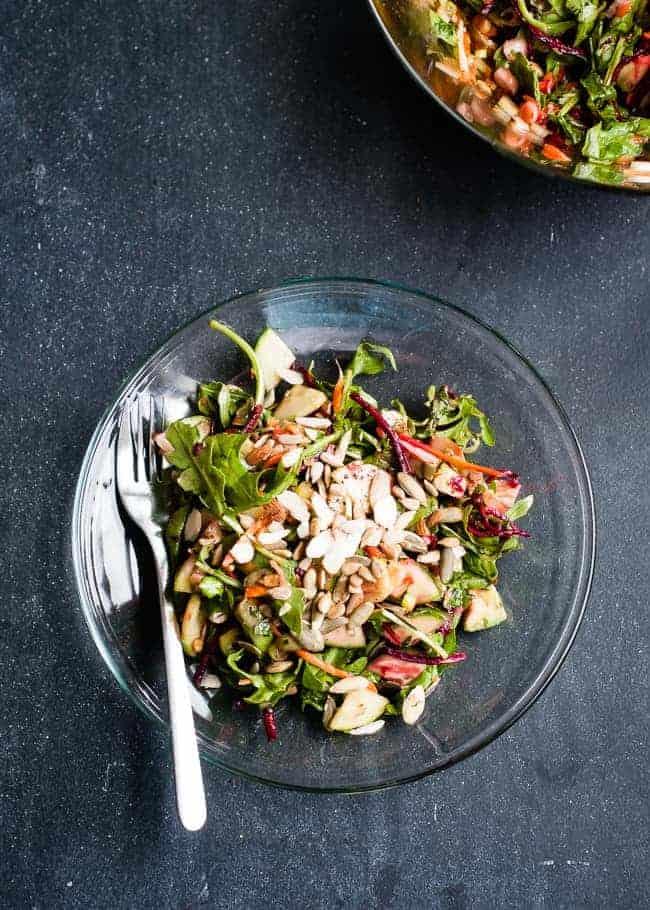 Beautiful Skin Salad + Detox Dressing | HelloGlow.co