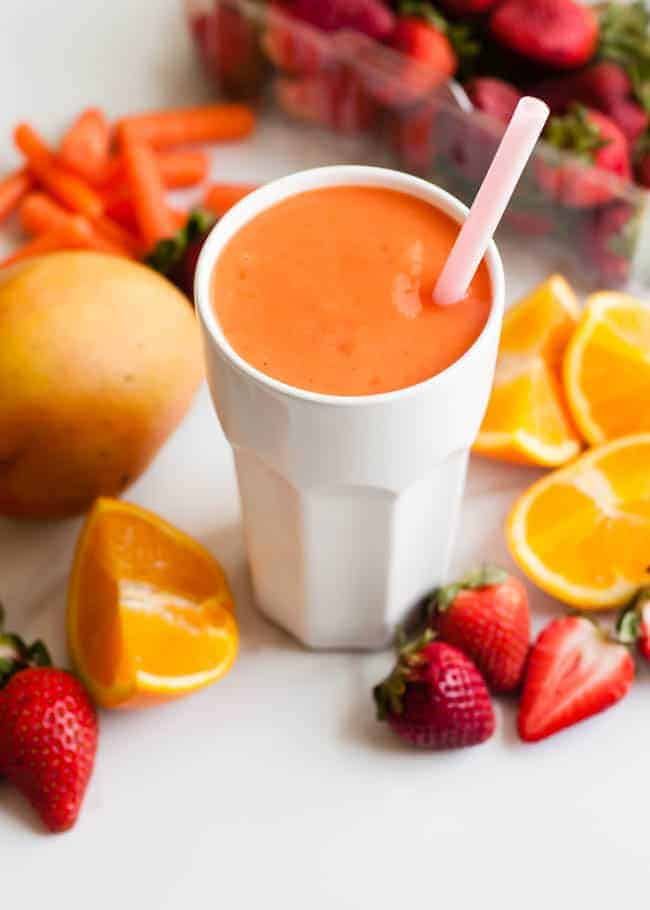 Carrot-Mango Smoothie Recipe — Dishmaps
