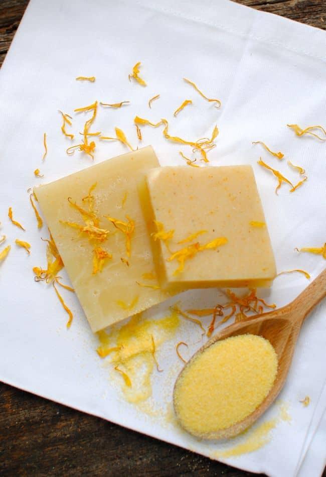 Cornmeal and Calendula Naturally Exfoliating Soap | Henry Happened