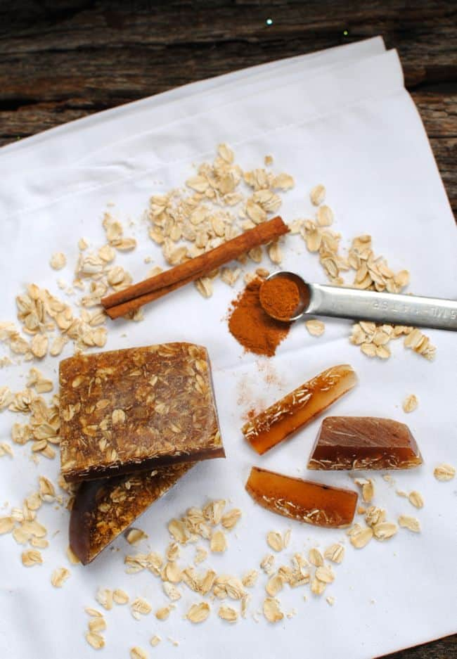 Naturally Exfoliating Soap Made from Oatmeal and Cinnamon | Henry Happened