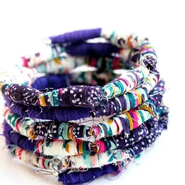 DIY: Fabric Bead Bracelet Tutorial