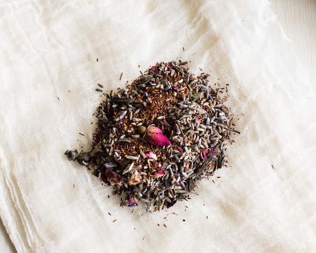 Rooibos Lavender Rose Herbal Tea Blend | Hello Glow