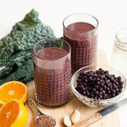 Sunday Smoothie: Wrinkle-Fighting Coconut Water, Berry + Kale Smoothie