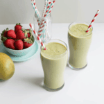 <b>BEAUTY SMOOTHIE:</b> Swiss Chard, Mango + Strawberry for Healthy Hair