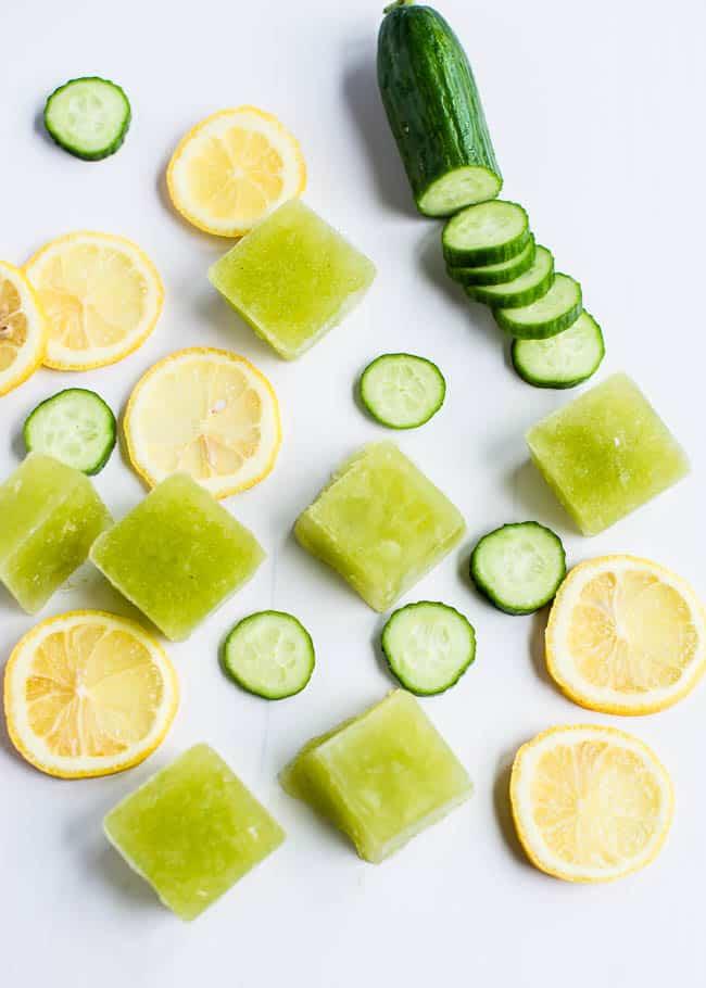 Cucumber Lemon Ice Cubes | Henry Happened