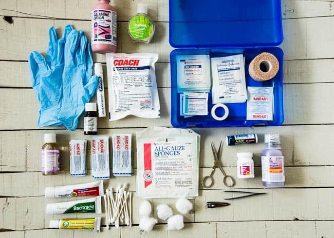 first aid kit for beach bag | Hello Glow