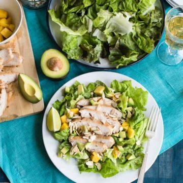 Jalapeno Lime Chicken Salad | Hello Glow