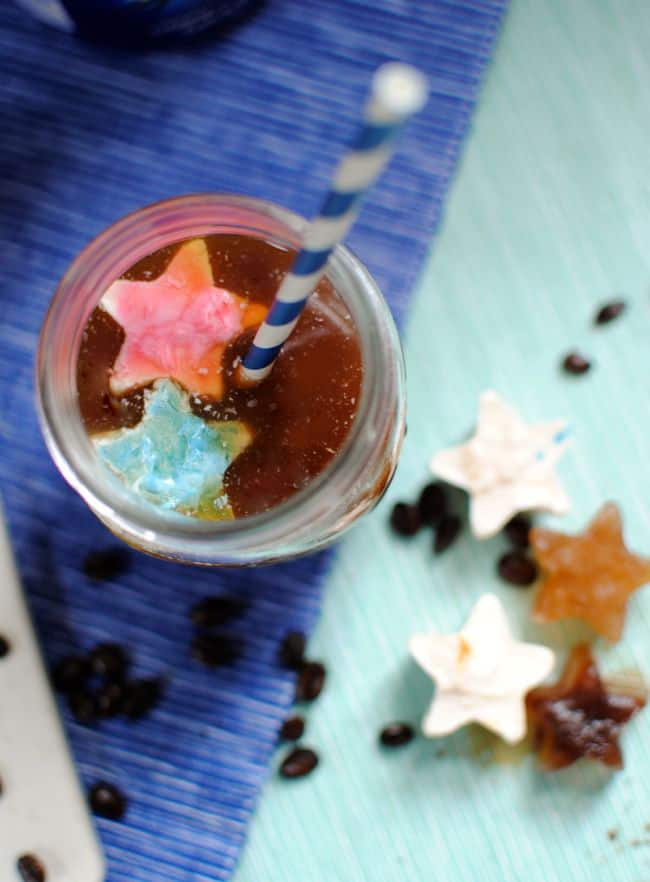 French Vanilla Star Ice Cubes | Hello Glow