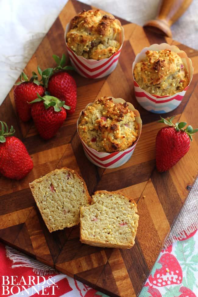 Strawberry Millet Muffins