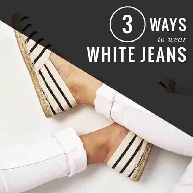 3 Ways to Wear White Jeans | HelloGlow.co