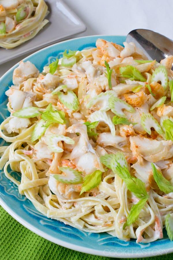 Make seafood pasta