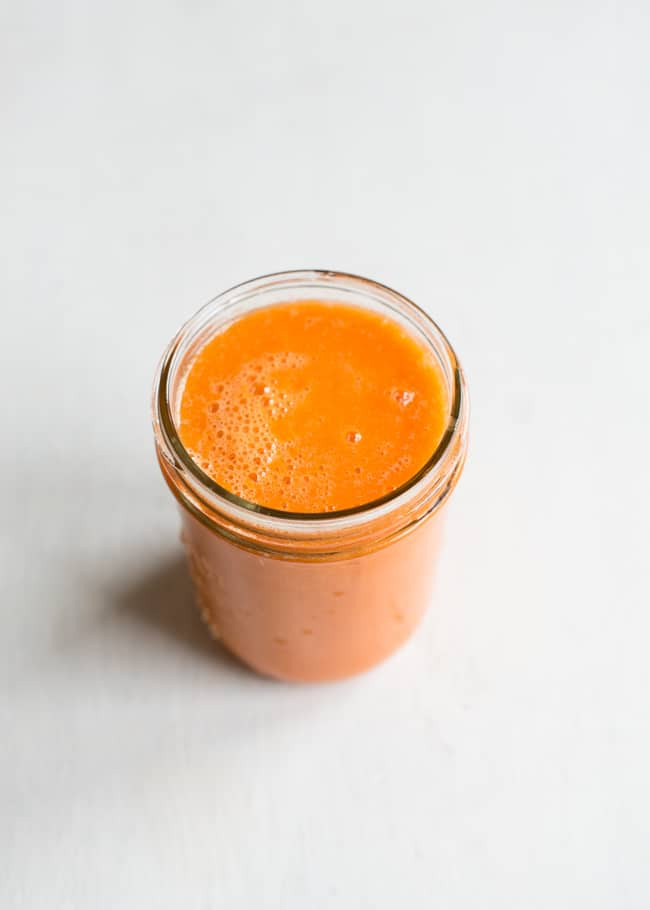 Carrot Mango Cantaloupe Juice
