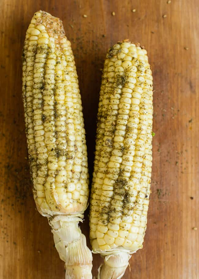 Garlicky Za'atar Roasted Corn