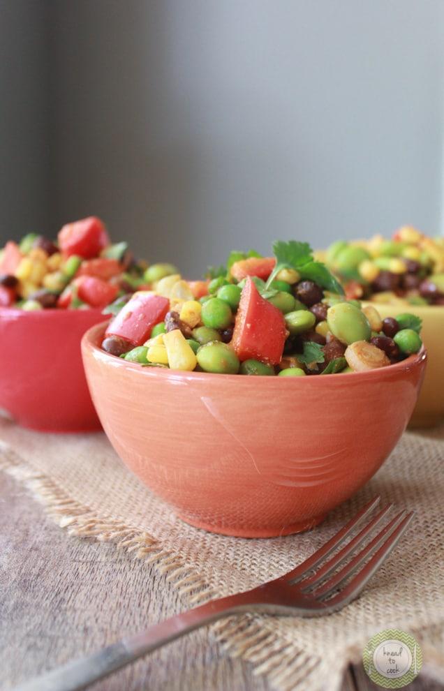 Make a salsa salad