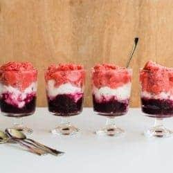 Red, White + Blue Granita Recipe