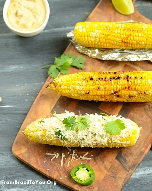Jalapeno-Lime Aioli and Parmesan Cheese Corn