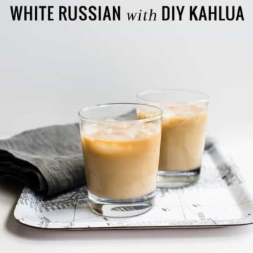 White Russian with DIY Kahlua | Hello Glow