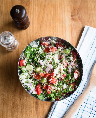 Cauliflower Rice Tabbouleh Salad | HelloNatural.co