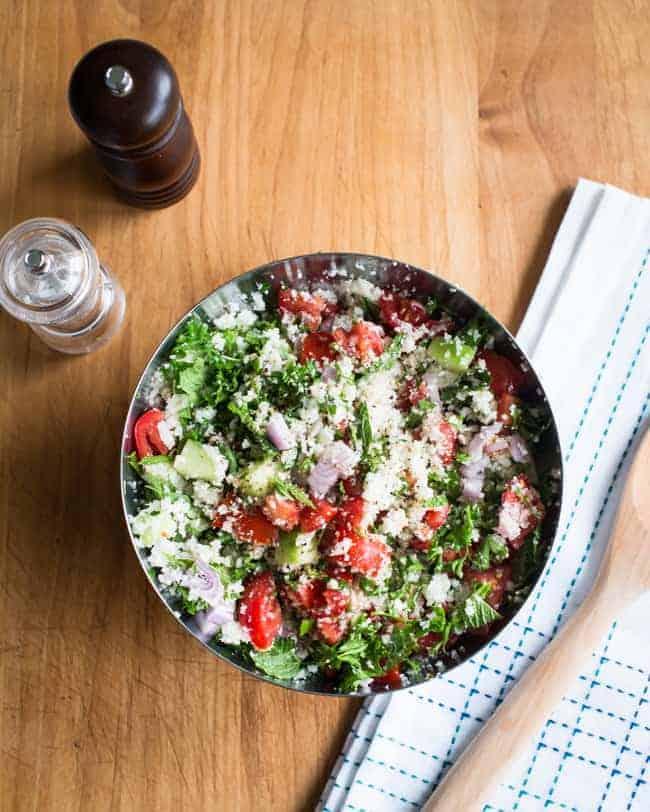 Cauliflower Rice Tabbouleh Salad   HelloGlow.co