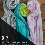 <b>DIY:</b> Watercolor Painted Summer Scarf
