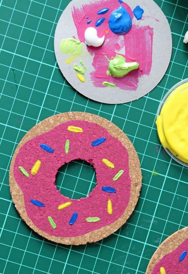 DIY Donut Coasters | Henry Happened