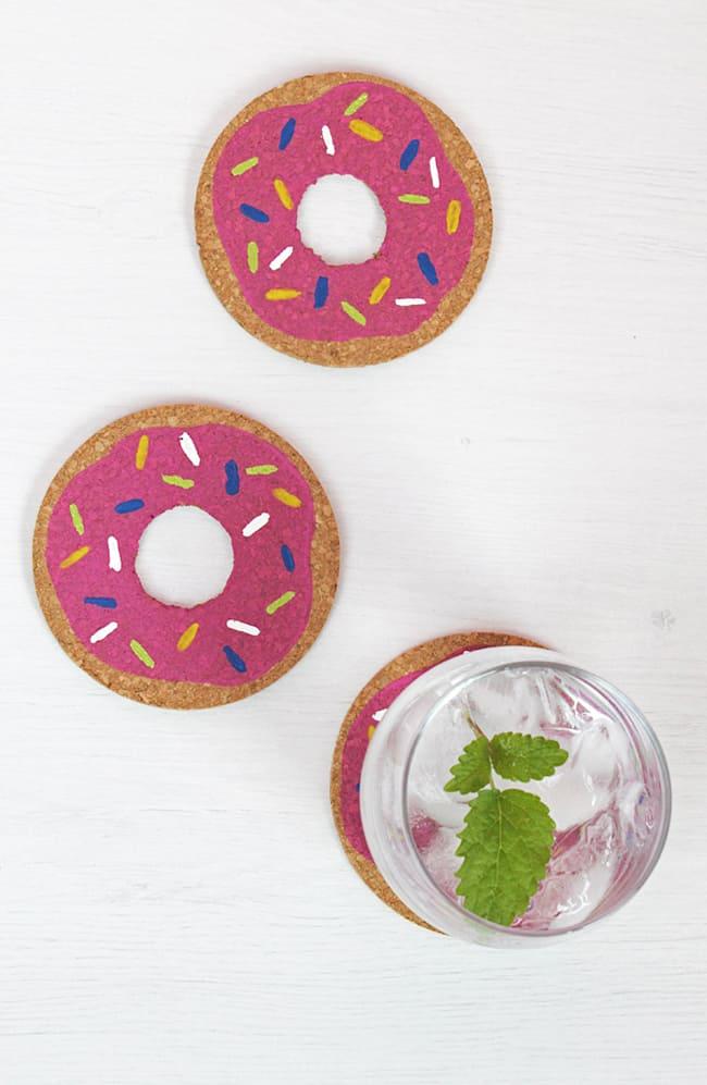 DIY Donut Coasters | Hello Glow